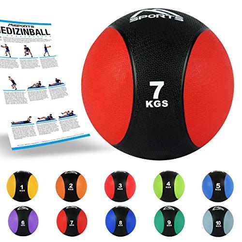 Balón medicinal 1 - 10 kg - Calidad gimnasio profesional