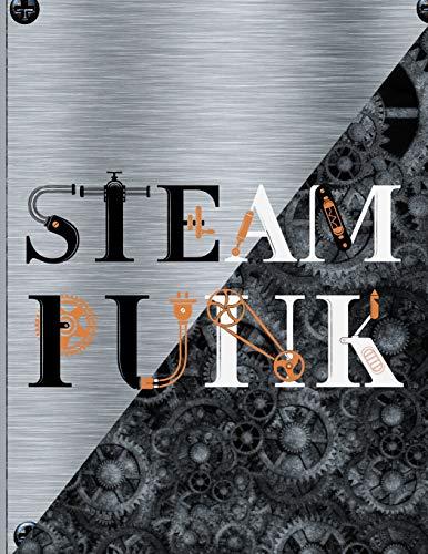 Steampunk: Silver Retro Steam Powered Machine Lined Notebook