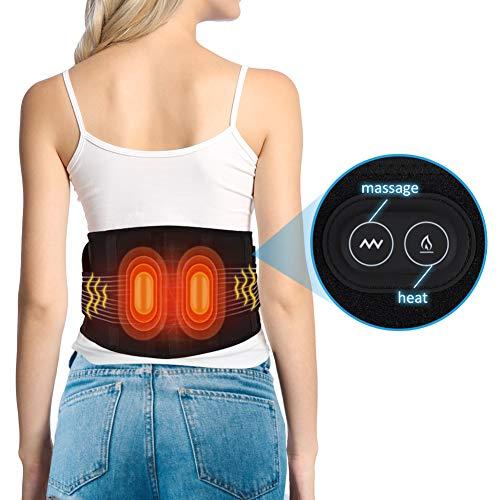 Doact Beheizte Vibrationstaille Massagegürtel Taille mit Wärmefunktion,Wärme-Gürtel mit Rücken-Therapie,Heizkissen für Rücken,wärmegürtel Rücken,Rückenwärmer Damen,Heizkissen Bauch für Männer Frauen