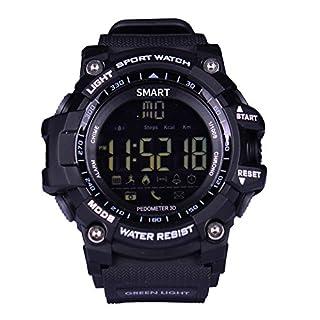 Xgody Xin Sheng Shang Technology Co. Ltd Xgody EX16 Wasserdichtes Bluetooth Smartwatch Armband für Android iOS iPhone, Schwarz