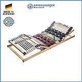RAVENSBERGER DUOMED® 7-Zonen-Teller-LEISTEN-BUCHE-Elektrorahmen   Elektrisch   Made IN Germany - 10 Jahre GARANTIE   Blauer Engel - Zertifiziert   100 x 200 cm   Kabel-Fernbedienung
