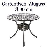 Hanseatisches Im- & Export Contor GmbH Gartentisch, Aluguss (rund, Ø 90 cm)