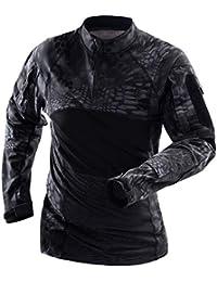 87ad328856082 Memoryee Camisa de Combate Militar táctica de los Hombres Algodón Ejército  Asalto Camo Manga Larga Slim