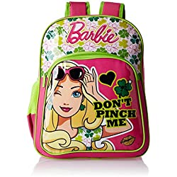 Barbie Pink and Green Children's Backpack (Age group :6-8 yrs)