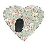 Pastel Floral Tapete Mousepad–Neopren für optische und Laser Maus, rose, Heart Mousepad
