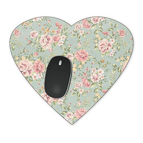Preisvergleich Produktbild Pastel Floral Tapete Mousepad–Neopren für optische und Laser Maus, rose, Heart Mousepad