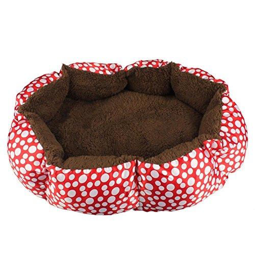 Transer® Soft Bett House für pet- Puppy Hund Fleece Nest Briefblock Katze Plüsch Cozy Warm Matte