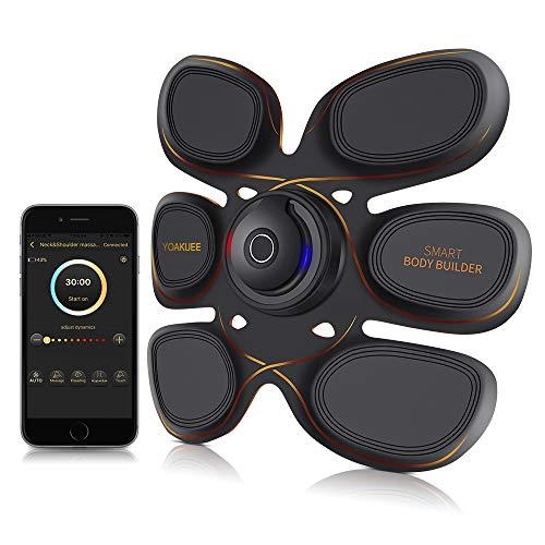YOAKUEE Six Pack Elettrostimolatore Muscolare con Controllo Attraverso App per Smartphone-50 Livelli