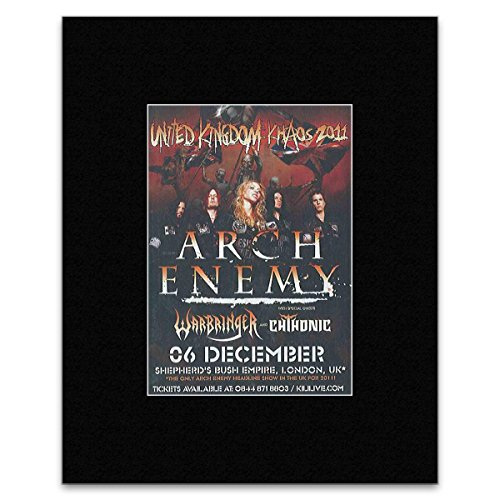 ARCH ENEMY - Sheperds Bush December 2011 Matted Mini Poster - 13.5x10cm -