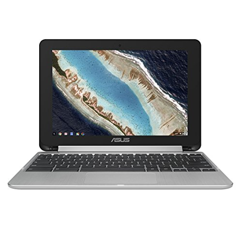 """ASUS C101PA-DB02 10.1"""" Touch Chromebook Flip, All Metal Body, USB Type-C, Google Play Store Ready, Touchscreen"""