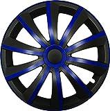 GRAL Blau/Schwarz - 14 Zoll, passend für fast alle Fiat z.B. für Fiat 500