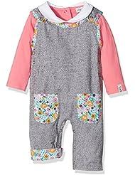Lilly and Sid Reversible Flannel/Ditsy Dungaree Set, Pantalones de Peto Para Bebés