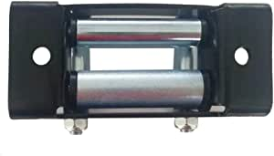 Passacavo Hawse in alluminio nero universale da 6 pollici per cavo corda per verricello sintetico ATV Macchina CNC in alluminio Hawse Passacavo standard