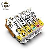 364XL 364 XL Cartucce Inchiostro CMYBabee Ricambi Rendimento Compatibile con Stampanti HP Deskjet 3524 3522 Photosmart 7510 7520 5510 5510 6510 5520 5522 5524 6512 6515 B8550 B8558 C5370 C5388 D7560 C310a C410a B209a B210a 5-pacco (2 Nero,1 Ciano,1 Magenta,1 Giallo)
