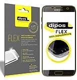 dipos I 3X Schutzfolie 100% passend für Galaxy S6 Edge Folie (Vollständige Displayabdeckung) Displayschutzfolie