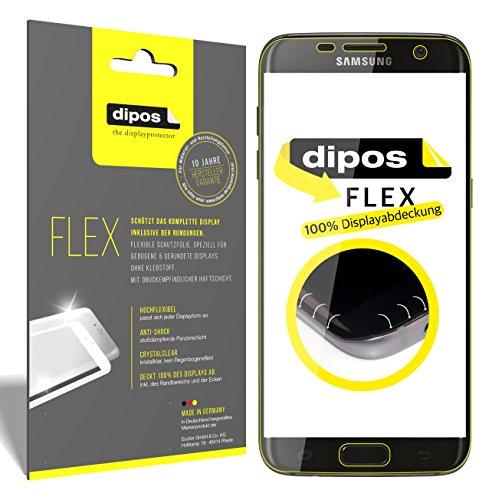 dipos I 3X Schutzfolie 100prozent passend für Galaxy S7 Edge Folie (Vollständige Bildschirmabdeckung) Bildschirmschutzfolie