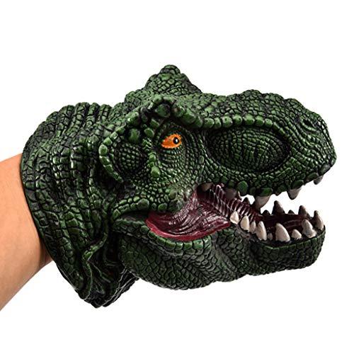 Ouneed - 1 stücke Dinosaurier Tyrannosaurus Dino Puppe Handpuppe Jurassic World Park Kinder Spielen Handpuppe Handschuhe Realistische Gummi Spielzeug Tier Figur Kinder Spielzeug