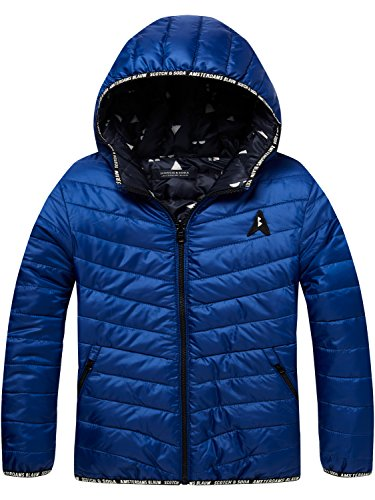 Scotch & Soda Jungen Jacke Reversible Nylon Jacket, Blau (Yinmn Blue 1742), 128
