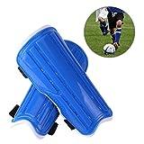 Escudos de fútbol para niños, EarthSave 1 par espinilleras, protector de pantorrilla unisex, ligero y transpirable Apto para niños de 6-10 años de edad, niñas, niños, adolescentes (Azul)