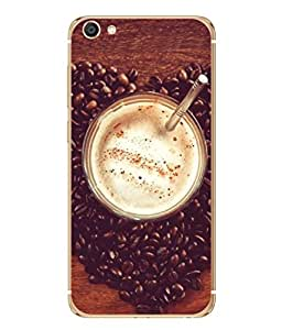 PrintVisa Designer Back Case Cover for Vivo X7 Plus (foggy delicious coffee with beans)