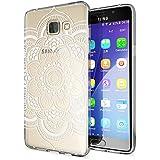 Samsung Galaxy A5 2016 Coque Protection de NICA, Housse Motif Silicone Portable Premium Case Cover Transparente, Ultra-Fine Souple Gel Slim Bumper Etui pour A5-16, Designs:Pattern Flowers