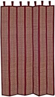 Tribes India Tribal Handwoven Grass Window Curtain - 5 Feet, Red