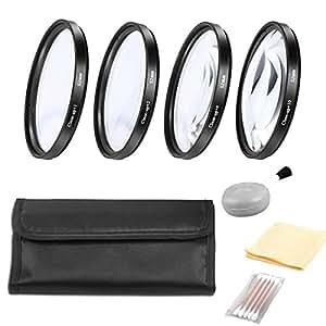 BPS 52mm Close Up Lens Filter Set (+1, +2, +4, +10) for Canon EOS 700D 1200D 100D 70D 750D 5D 1100D Nikon D3200 D7200 D3300 Sony A77 Alpha A58 A99 Alpha A3000 Pentax K-50 K-3 KS-1 Digital Camera