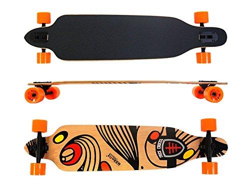 """41x9,5"""" Longboard MAXOfit® Tres Cruces No. 417, 104 cm, Drop Through"""