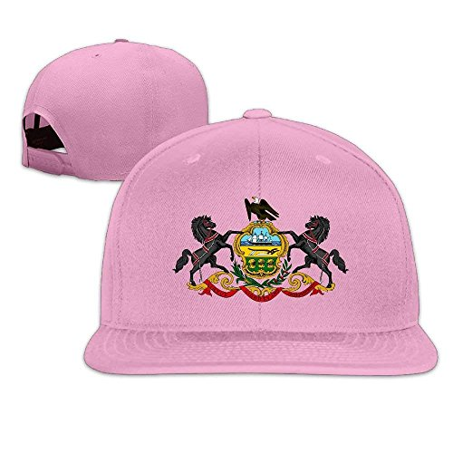 AOHOT Herren Damen Baseball Caps,Hüte, Mützen, Classic Baseball Cap, Pennsylvania State Flag Snapback Adjustable Flat Bill Visor Baseball Cap