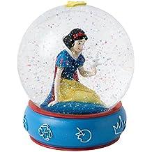 Enesco Enchanting Disney - Bola de nieve, Blanca Nieves, resina y vidrio, 10 cm