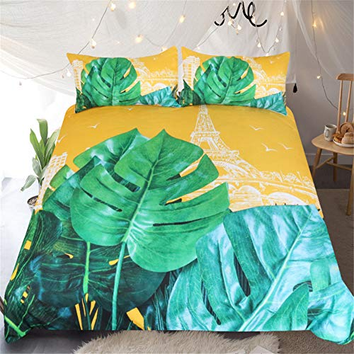 YUNSW 3D Digitaldruck Blumen Bettbezug Kissenbezug Einzel Doppelbett Voll Königin King Size Bettwäsche Set A 220x240cm / 87x94in -