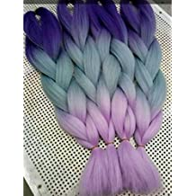 "nayoo® Fibra Kanekalon Ombre color pelo trenzado 24""100G/PC sintético alta temperatura cable de Jumbo Braid Yaki pelo extensiones"