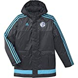adidas Herren Jacke FC Schalke 04 Stadium, ntgrey/supcya, 152, AB2031