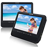 """WONNIE 7.5"""" Inch Dual Portable DVD Player for Car, Two Screens"""