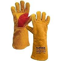 """Warrior Workwear 01pk11W + YW superior soldadura guante guante, tamaño 15, """"amarillo/rojo (Pack de 6)"""
