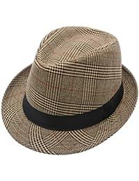 JEDAGX uomini donne unisex cotone leggero cappello di feltro con banda  nera 26b4cbcc7756
