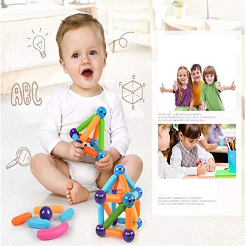 BABIFIS Juego de Bloques de construcción magnéticos, Deje Que su Hijo aprenda Colores y Formas a través del Juego, estimule la imaginación, Juguetes matemáticos