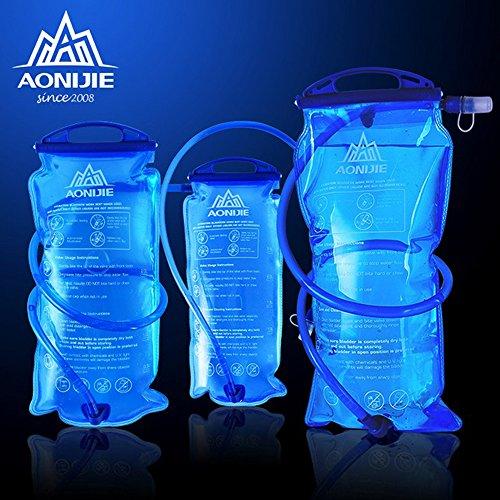 Imagen de bolsa de agua plegable, bolsa de hidratación de 1 l,1,5 l, 2 l o 3 l, para deportes al aire libre como ciclismo, senderismo o maratón, de aonijie sd12 alternativa