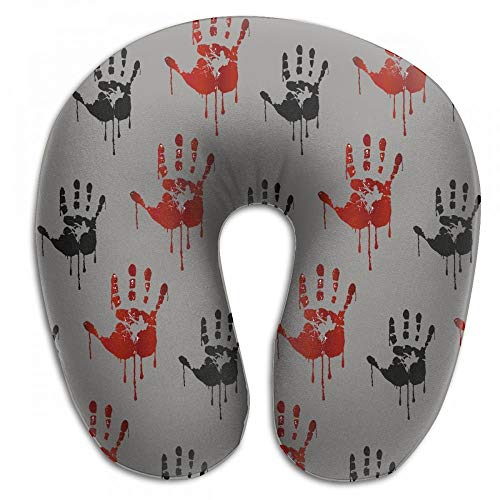 Bikofhd Halloween Horror Dirty Scary Blood U Shaped Pillow Neck Head Cushion Support Rest Outdoors Car Office Home Travel Pillow