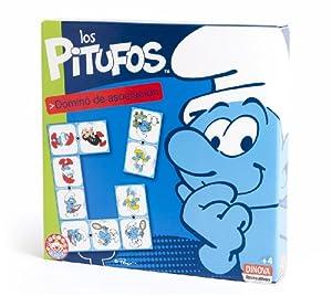Los Pitufos - Dominó de asociación (Dinova D0550001)