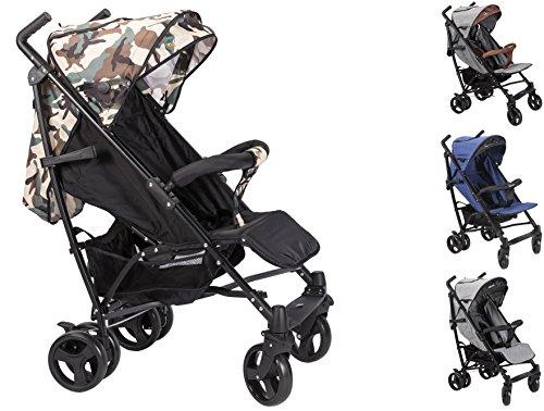 Clamaro \'CityGO\' Kinderwagen Buggy Jogger mit Liegefunktion, klein zusammenklappbar, 8 kg, kompakt Baby & Kinder Sportwagen mit flüsterleise Reifen, 5-Punkt Gurt und Sonnendach, Camouflage