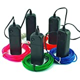 Esco lite el wire 15 ft kits green blue white red pink electroluminescent with inverter portable Decoration Halloween Christmas Party