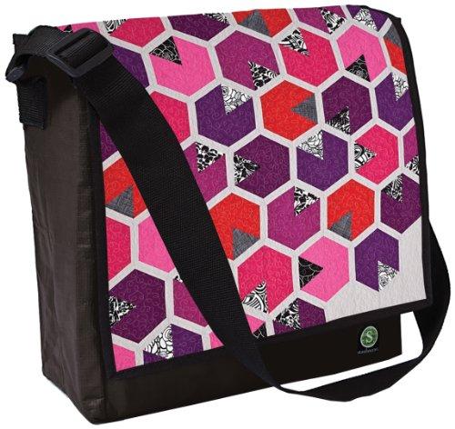 Applique Messenger Bag (Honey Quilt-Eco Messenger Bag)