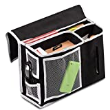 hunpta Pocket Bett Seite Storage Matratze Buch TV Fernbedienung Caddy Organizer Magazin schwarz
