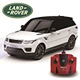 CMJ RC Cars Range Rover Sport Official Licensed Remote Kids with Working Lights, Electric Radio Controlled On Road RC Car 1:24 Model, 27Mhz White, Toy for Girls and Boys, 15CM Approx