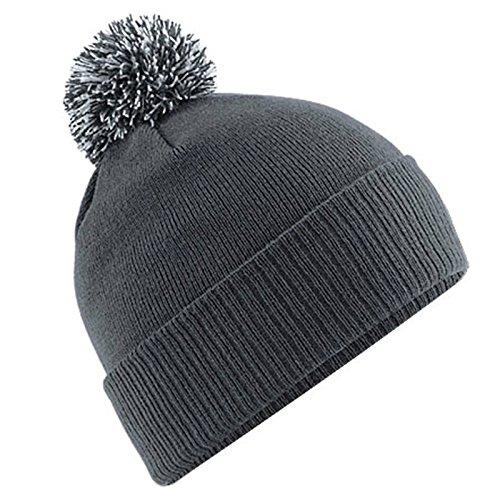 Beechfield BC450 Snowstar Beanie - Graphite Grey/Light Grey - One Size