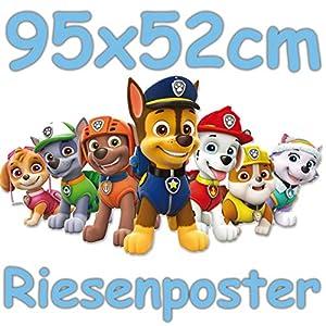 Neu: Riesiges Wandschild * PAW Patrol * als Deko für Kindergeburtstag, Mottoparty oder Kinderzimmer | Größe: 95x52cm | Poster aus Pappe | Wandposter für Kinderzimmer