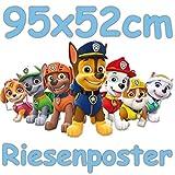 Neu: Panneau Mural géant Paw Patrol - Décoration pour Anniversaire d'enfant, fête à thème ou Chambre d'enfant. Dimensions : 95 x 52 cm.