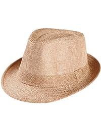 Chapeau Panama Traditionnel,Covermason Hommes Femmes Été Plage de  Paille Tresse Chapeau… ee80a8dedf9