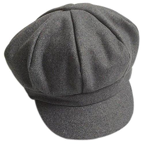 ✽Internet✽ Sombrero infantil del casquillo de la boina de la b (Gris)